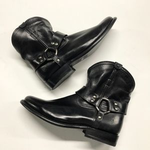 New FRYE Wyatt Harness Leather Short Ankle Boots